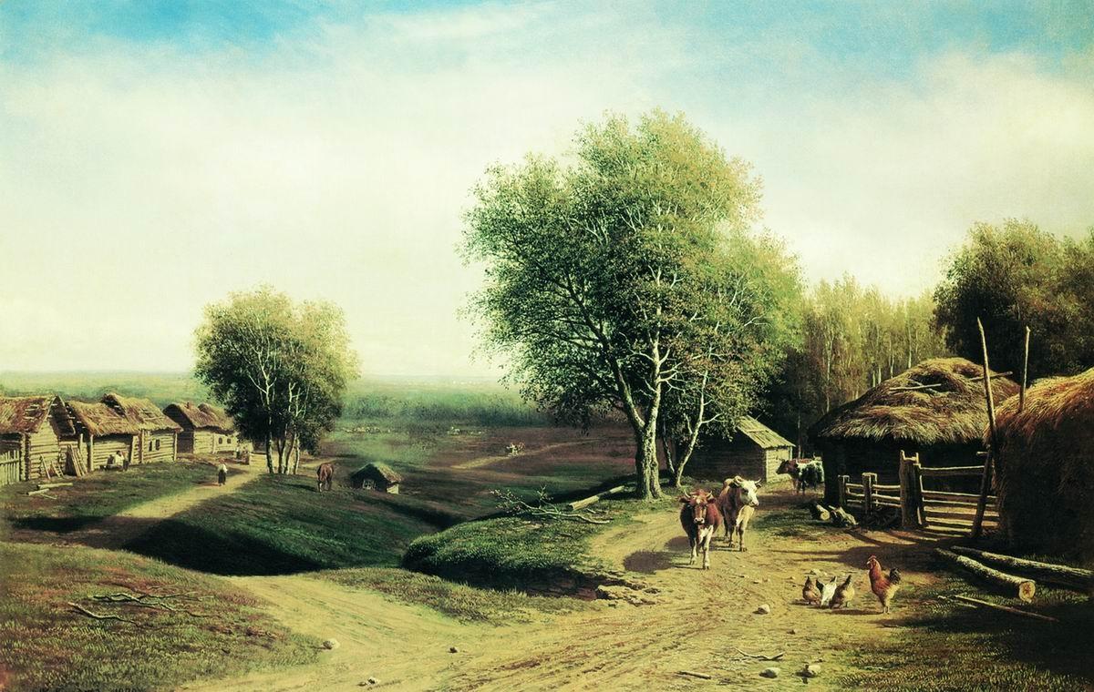 нашего деревенский пейзаж в фотоискусстве вид полусапожек