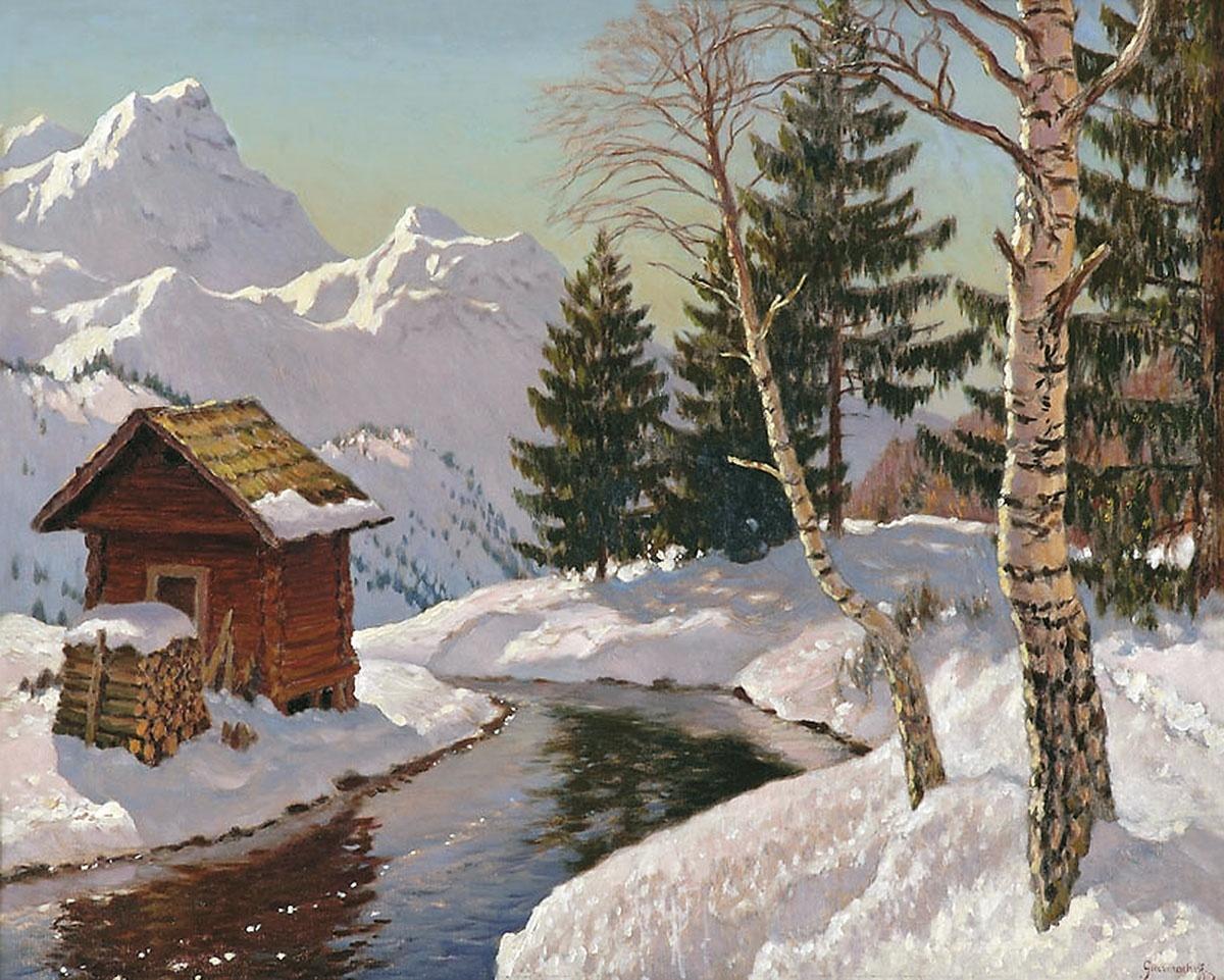 Картинки с пейзажем зимы нефедова, для