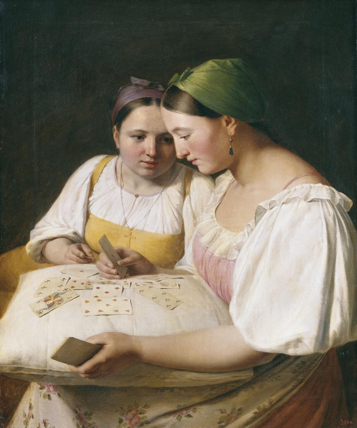 Гадание на картах картина венецианов правдиво ли гадание на картах таро