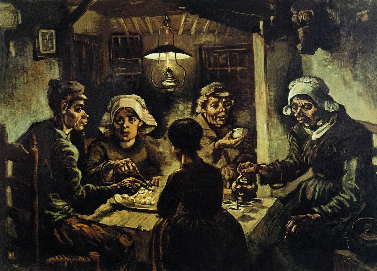 ван гог история создания картины едоки картофеля: